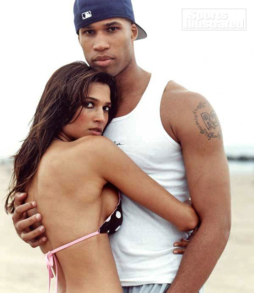 black and white pictures of lovers. Black Athletes, White Lovers.