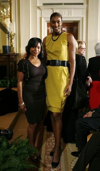 Dominique Dawes, Lisa Leslie At White House For Women & Girls
