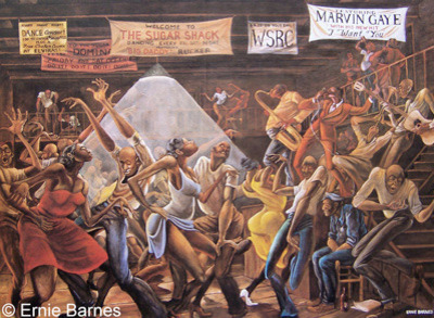 Artist of famous good times painting dies ernie barnes for Famous house music